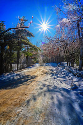 Photograph - Winter Road by Tom Singleton