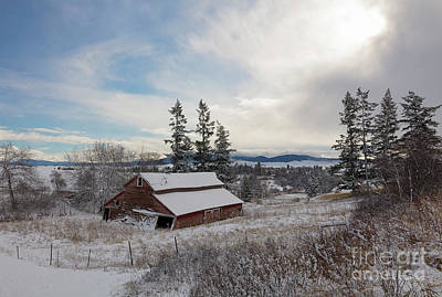 Photograph - Winter Rustic by Idaho Scenic Images Linda Lantzy