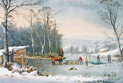 Photograph - Winter Scene by Currier and Ives