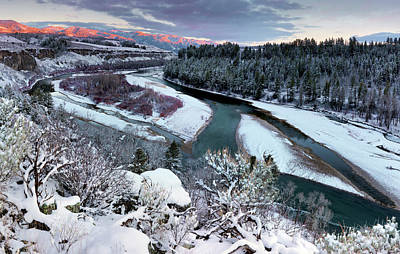Photograph - Winter Snake River by Leland D Howard