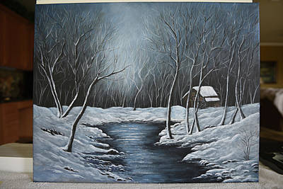 Painting - Winter Snow by Gloria Johnson