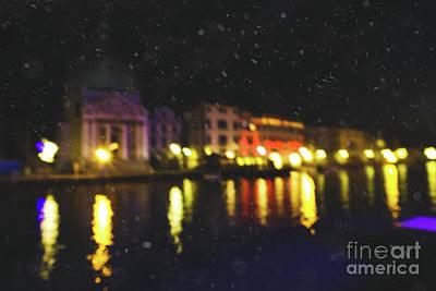 Photograph - Winter Snowy Venice At The Night by Marina Usmanskaya