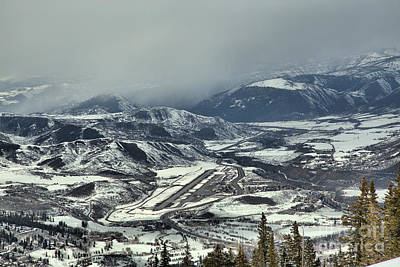 Photograph - Winter Storms Over Aspen Airport by Adam Jewell