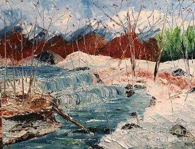 Painting - Winter Stream by Denise Tomasura