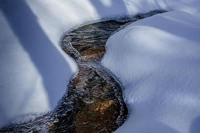 Photograph - Winter Stream. by Jeff Sinon