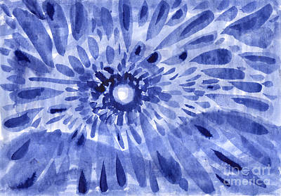 Painting - Winter Sun. Abstract Ink Drawing On Paper. by Irina Dobrotsvet