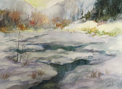 Painting - Winter Sun Valley by Jeri McDonald