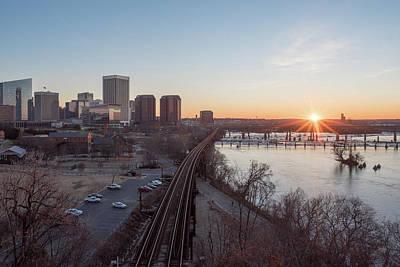 Photograph - Winter Sunrise Overlooking Richmond Virginia by Doug Ash