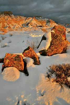 Photograph - Winter Sunset At Book Cliffs In Grand Junction by Ray Mathis