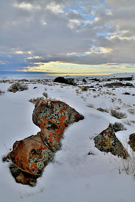 Photograph - Winter Sunset At Book Cliffs by Ray Mathis