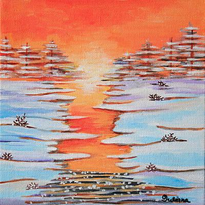 Painting - Winter Sunset by Iuliana O