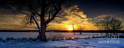 Frank Sinatra - Tranquil Winter Sunset Panorama by Robert Gardner