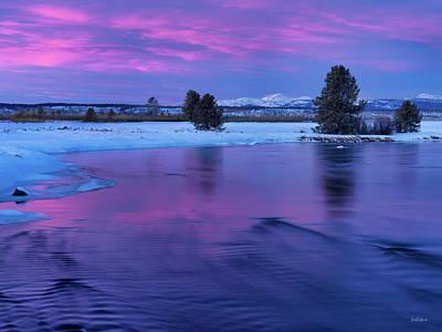 Photograph - Winter Sunset Reflection by Leland D Howard
