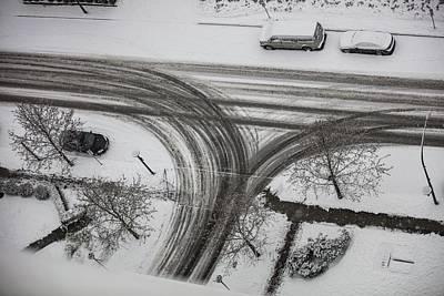 Photograph - Winter Tireprint No.1 by Juan Contreras