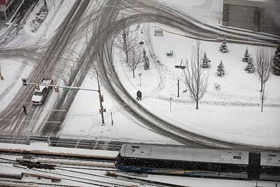 Photograph - Winter Tireprints No. 4 by Juan Contreras