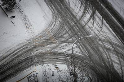 Photograph - Winter Tireprints No.5 by Juan Contreras
