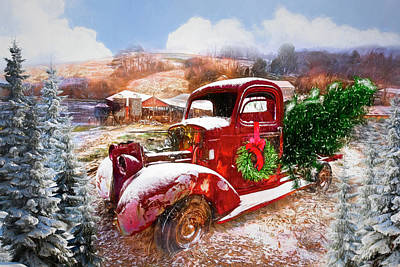 Photograph - Winter Treasures At Christmastime Painting by Debra and Dave Vanderlaan