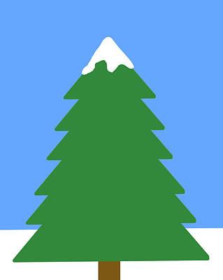 Digital Art - Winter Tree by Peter Cutler
