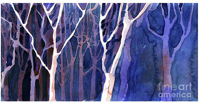 Painting - Winter Trees by Ryan Fox