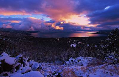 Photograph - Winter Twilight Storm by Sean Sarsfield