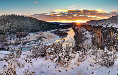 Photograph - Winter View 2 by Leland D Howard