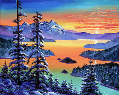 Painting - Winter Vista by David Lloyd Glover