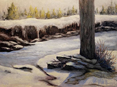 Painting - Winter Water by Susan E Hanna