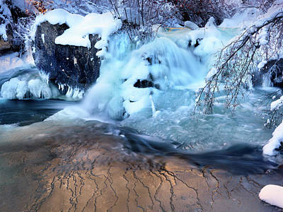Photograph - Winter Waterfall by Leland D Howard