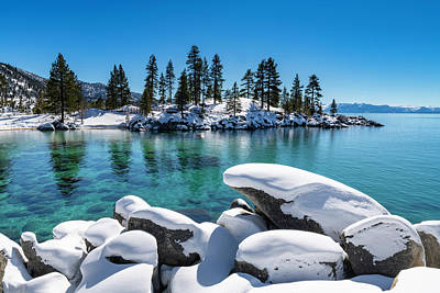 Photograph - Winter Wave - Sand Harbor Lake Tahoe By Brad Scott by Brad Scott