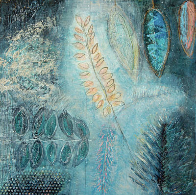 Mixed Media - Winter Wish 2 by Paper Jewels By Julia Malakoff