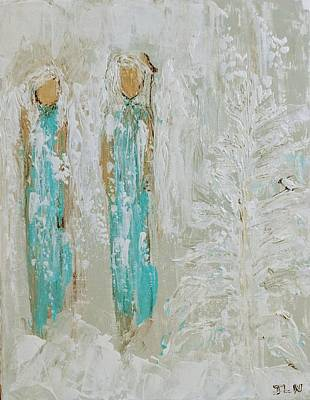 Painting - Winter Wonderland Angels by Jennifer Nease