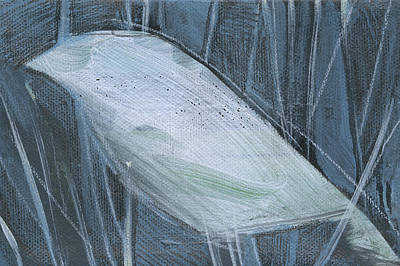 Painting - Winterbird 2 by Tim Nyberg