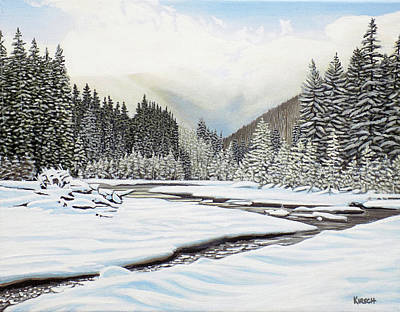 Painting - Winterland by Kenneth Kirsch