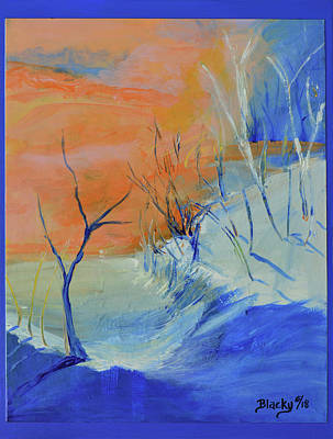 Mixed Media - Winter's Dawn by Donna Blackhall