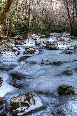 Photograph - Winter's Frozen Landscape Big Creek by Carol Montoya