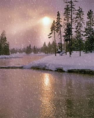 Photograph - Winters Light by Leland D Howard