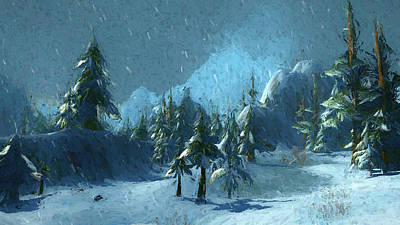 Digital Art - Winterspring by Jason Fink