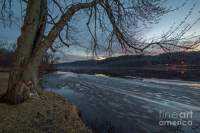 Lucille Ball - Wintery Icy St. Croix River by Bobby Griffiths