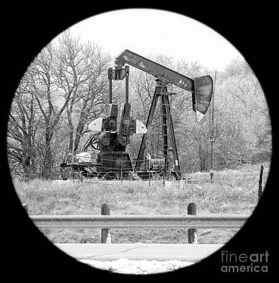 Photograph - Wintry Pumpjack by Imagery by Charly