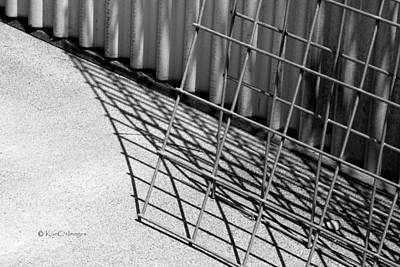 Photograph - Hog Wire And Corrugated Steel  by Kae Cheatham