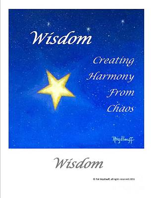 Painting - Wisdom - Art With A Message Poster by Pat Heydlauff