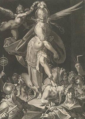 Relief - Wisdom Conquers Ignorance by Aegidius Sadeler