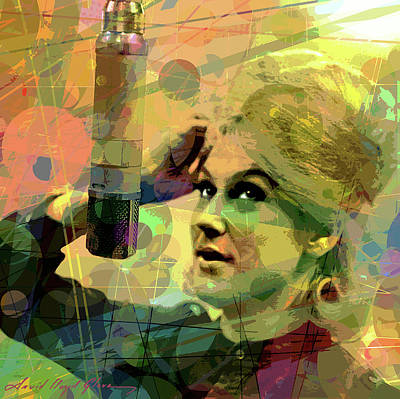 Painting - Wishin' And Hopin' Dusty Springfield by David Lloyd Glover