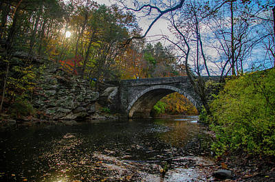 Photograph - Wissahickon Creek Near Valley Green In Autumn by Bill Cannon