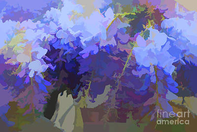 Digital Art - Wisteria Colours by Fran Woods