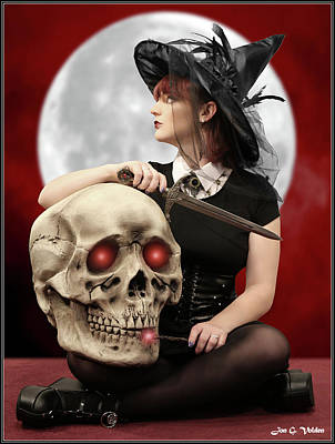 Photograph - Witch And The Giant Skull by Jon Volden