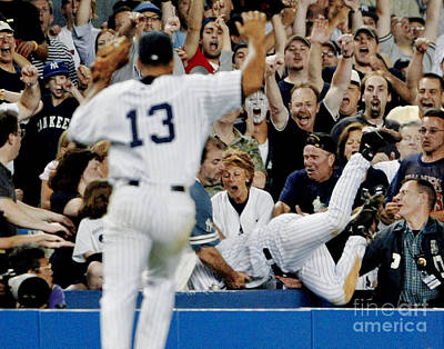 Photograph - With Alex Rodriguez 13 Backing Him Up by New York Daily News Archive
