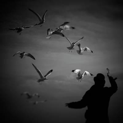 Hand Photograph - Wizard Flewing Away Birds by Photo By Igor Svibilsky, Www.igorsvibilsky.com