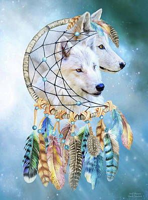 Mixed Media - Wolf Dreams by Carol Cavalaris