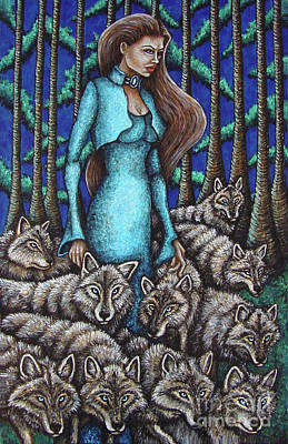 Painting - Wolf Pack by Amy E Fraser